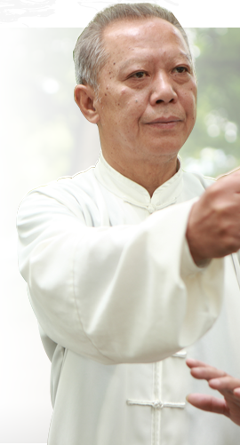 A photo of a Tai Chi workshop participant