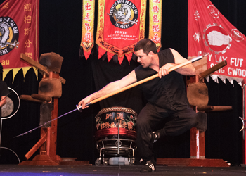 Ancient Sword Form Performed on Stage image