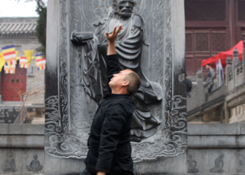 Sifu George practising Lohan Qigong In China image
