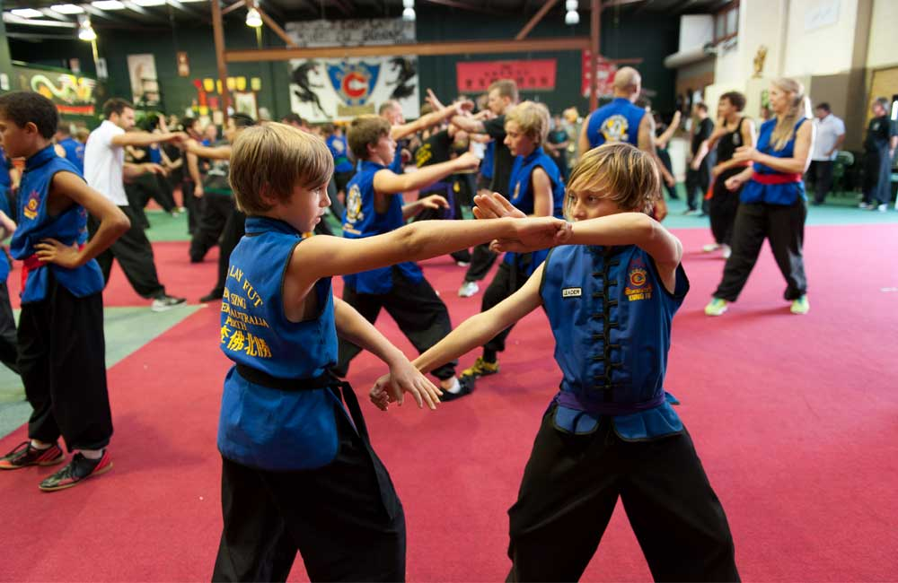 Children learning at our kids martial arts In Perth