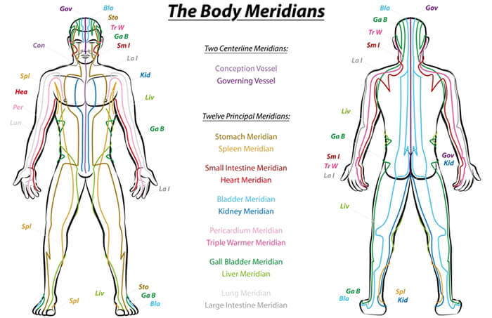 meridian channels, meridians,